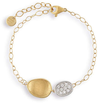 Marco Bicego Lunaria Two-Pendant Bracelet with Diamonds