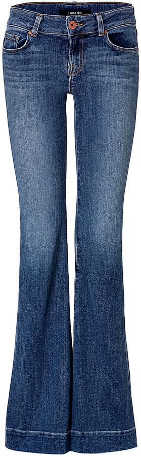 J Brand Jeans Flared-Leg Lovestory Jeans
