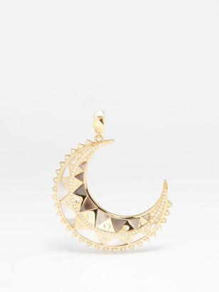 Harwell Godfrey Diamond, Mother-of-pearl & 18kt Gold Moon Pendant - Yellow Gold