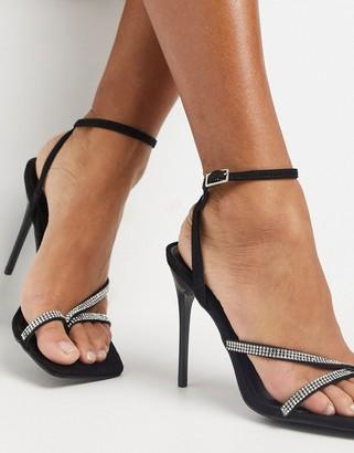 Schuh Seren strappy heeled sandal in black