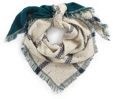 David & Young Women's Marled Plaid Reversible Square Scarf