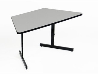Height Adjustable Training Table with Modesty Panel Correll, Inc.