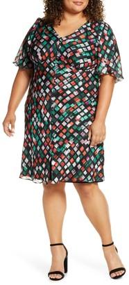 Marée Pour Toi Geo Pattern Button Front Dress