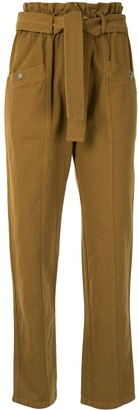 Sea Belted Straight-Leg Trousers