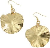 John S Brana Designer Jewelry Nu Gold Brass Lily Pad Earrings by John S Brana Handmade Jewelry - High-Quality Durable Brass - Lightweight - Lifetime Guarantee