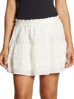 LOVESHACKFANCY Botanic Victorian Cotton Mini Skirt