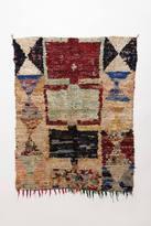 Anthropologie Fringed Hourglass Rug