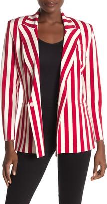 Norma Kamali Stripe Double Breasted Jacket