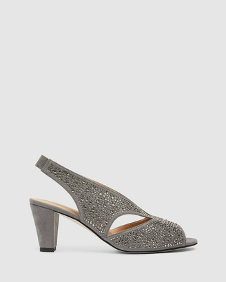 Easy Steps - Women's Grey Open Toe Heels - Angie - Size One Size, 10 at The Iconic