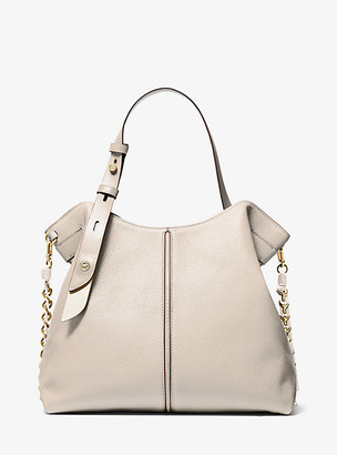 Michael Kors Downtown Astor Large Pebbled Leather Shoulder Bag