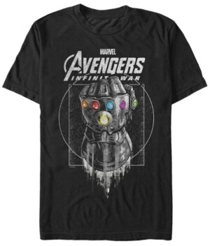Marvel Men's Avengers Infinity War Black and Grey Ancient Gauntlet Short Sleeve T-Shirt