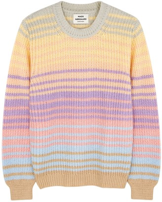 Mads Norgaard Kashy striped chunky-knit jumper