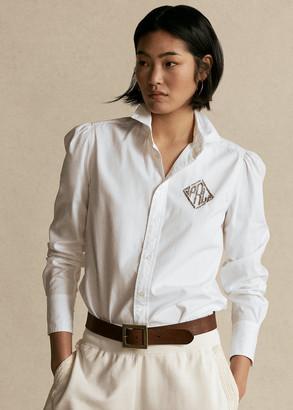 Ralph Lauren Beaded-Monogram Oxford Shirt