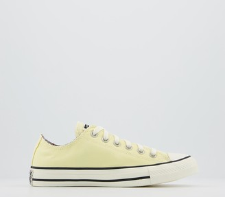 Converse All Star Low Trainers Naples Yellow Egret Multi Floral Exclusive