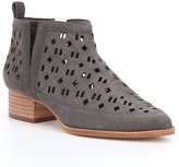 Gianni Bini Dax Suede Perforated Laser Cutout Detail Booties