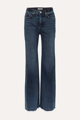GRLFRND Carla High-rise Wide-leg Jeans - Dark denim