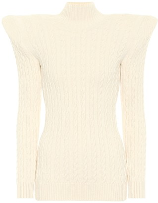 Balenciaga Pagoda cable-knit chenille sweater