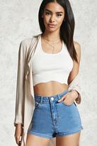 Forever 21 FOREVER 21+ High-Waisted Denim Shorts