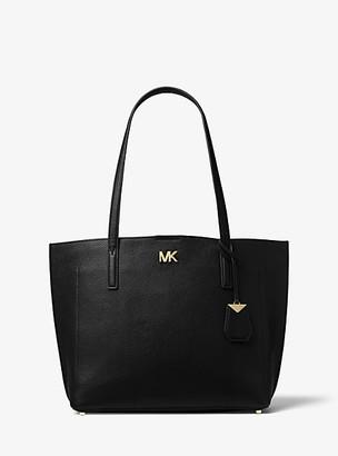 MICHAEL Michael Kors MK Ana Medium Pebbled Leather Tote Bag - Black - Michael Kors