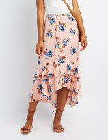 Charlotte Russe Floral Ruffle Maxi Skirt