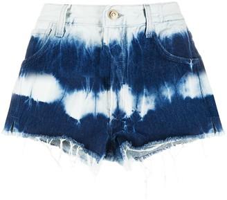 Alanui Denim Tie Dye Shorts