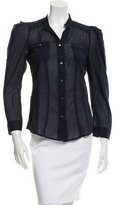 Diane von Furstenberg Long Sleeve Button-Up Top