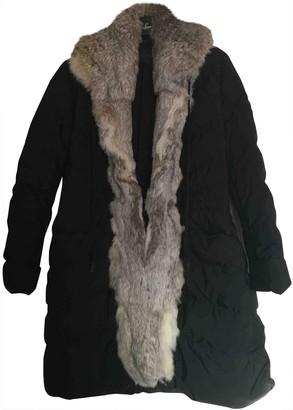 Ermanno Scervino Black Rabbit Coat for Women