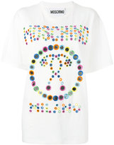 Moschino mirror embroidery t-shirt - women - Cotton/plastic - XS