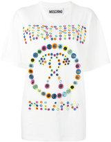 Moschino mirror embroidery t-shirt - women - Cotton/plastic - XXS