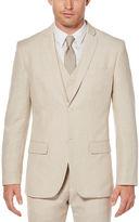 Perry Ellis Slim Fit Perforated Linen Suit Jacket