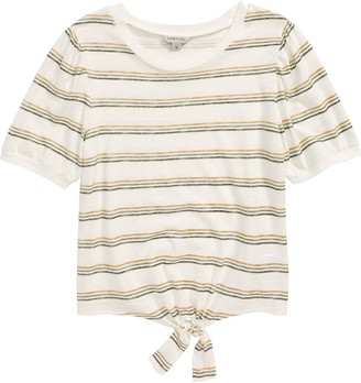 Habitual Brynlee Stripe Front Tie Jersey Top