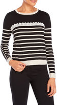 Yumi Lace Stripe Sweater