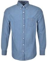 Gant Long Sleeved Regular Fit Indigo Shirt Blue