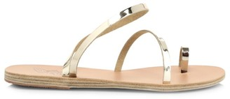 Ancient Greek Sandals Apli Metallic Leather Toe-Loop Sandals