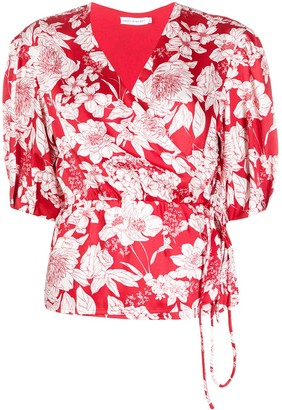 Rebecca Minkoff Floral Wrap Blouse