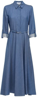 Gabriela Hearst Cotton Denim Shirt Dress