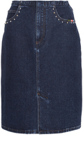 Sonia Rykiel Denim Fringe Skirt