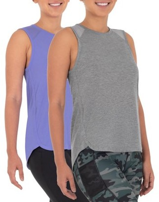 Athletic Works Women's Active Repreve Racerback Tank 2-Pack