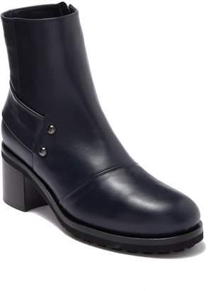 Alberto Fermani Leather Block Heel Ankle Boot