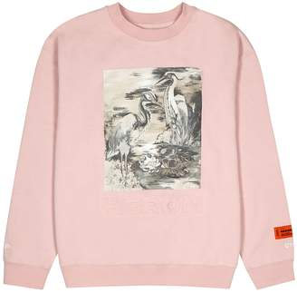 Heron Preston Light Pink Printed Cotton Sweatshirt