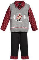 Nautica 3-Pc. Skiing Reindeer Sweater Vest, Shirt & Pants Set, Baby Boys (0-24 months)