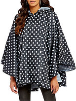 Collection 18 Polka Dot Hooded Rain Poncho