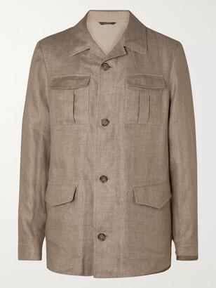 Loro Piana Linen-Blend Field Jacket