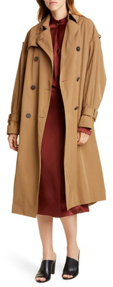 Vince Belted Technical Trench Coat