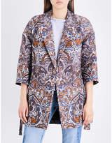 Maje Ladies Brown Gimane Coat
