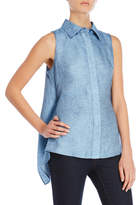 Milly Avery Sleeveless Linen Top