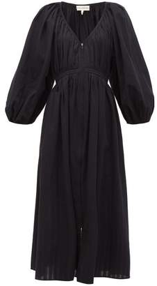 Mara Hoffman Simone Zipped Organic Cotton Midi Dress - Womens - Black