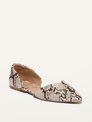 Old Navy Faux-Snakeskin D'Orsay Flats for Women