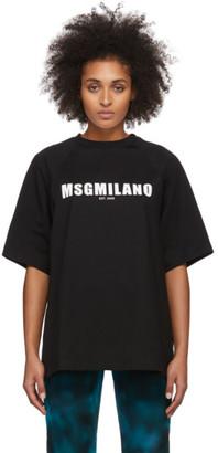 MSGM Black 2009 Logo T-Shirt