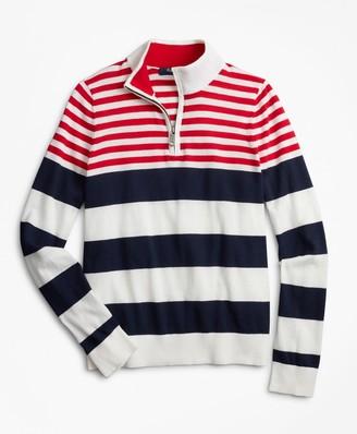 Brooks Brothers Boys Engineered Stripe Cotton Sweater